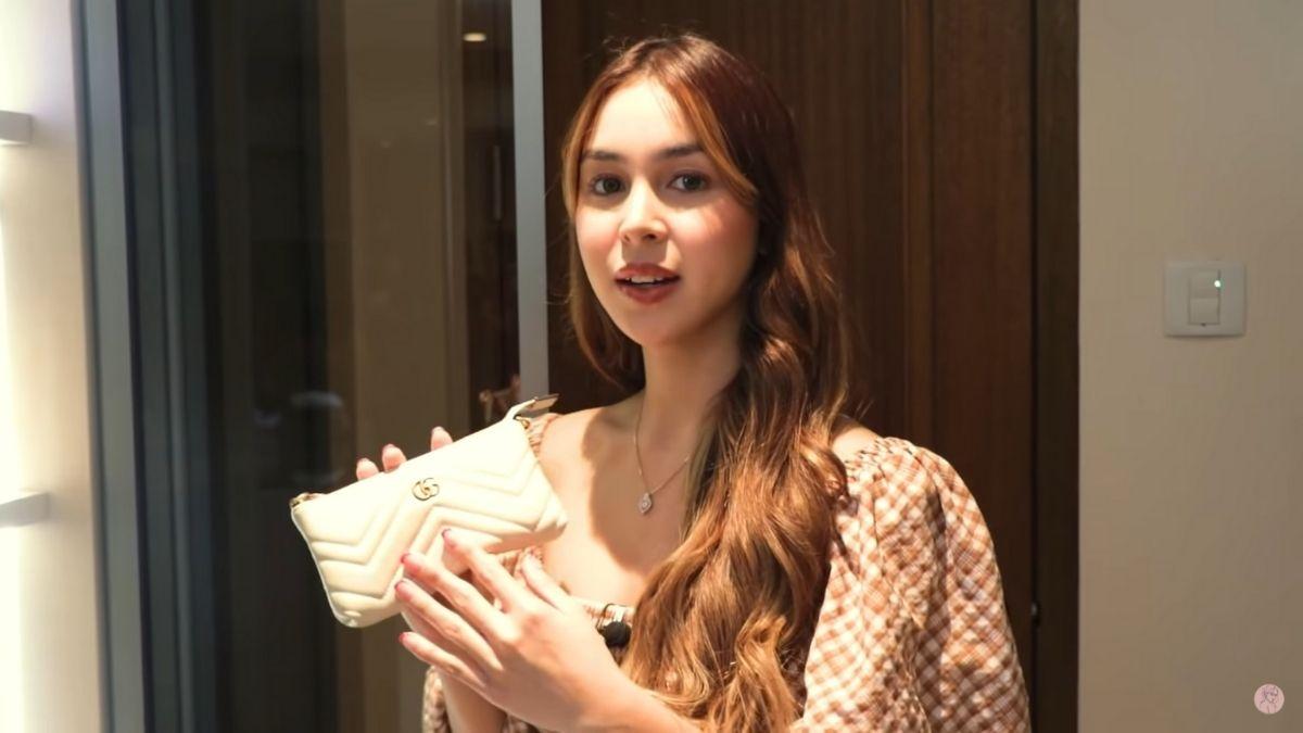 Julia Barretto closet tour: white Gucci bag