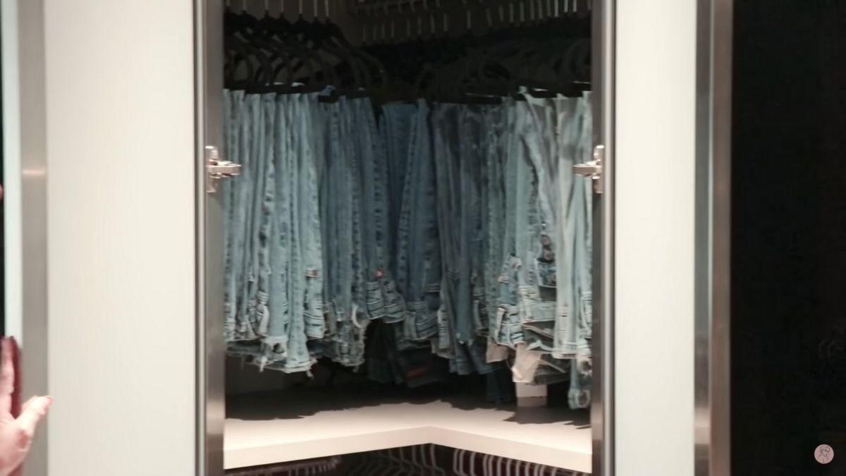 Julia Barretto closet tour: closet of jeans and denim shorts
