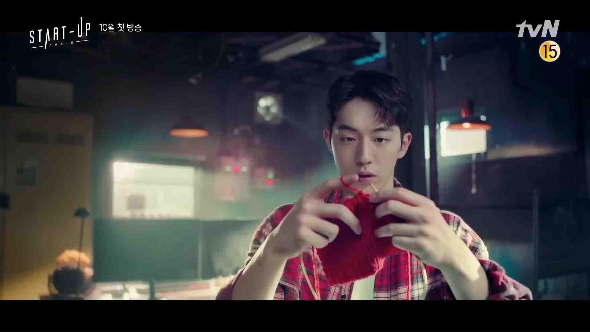 Start-Up's Nam Do San (Nam Joo Hyuk) knitting