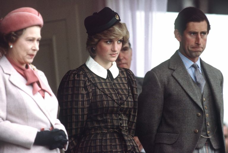 Princess Diana, Queen Elizabeth, and Prince Charles