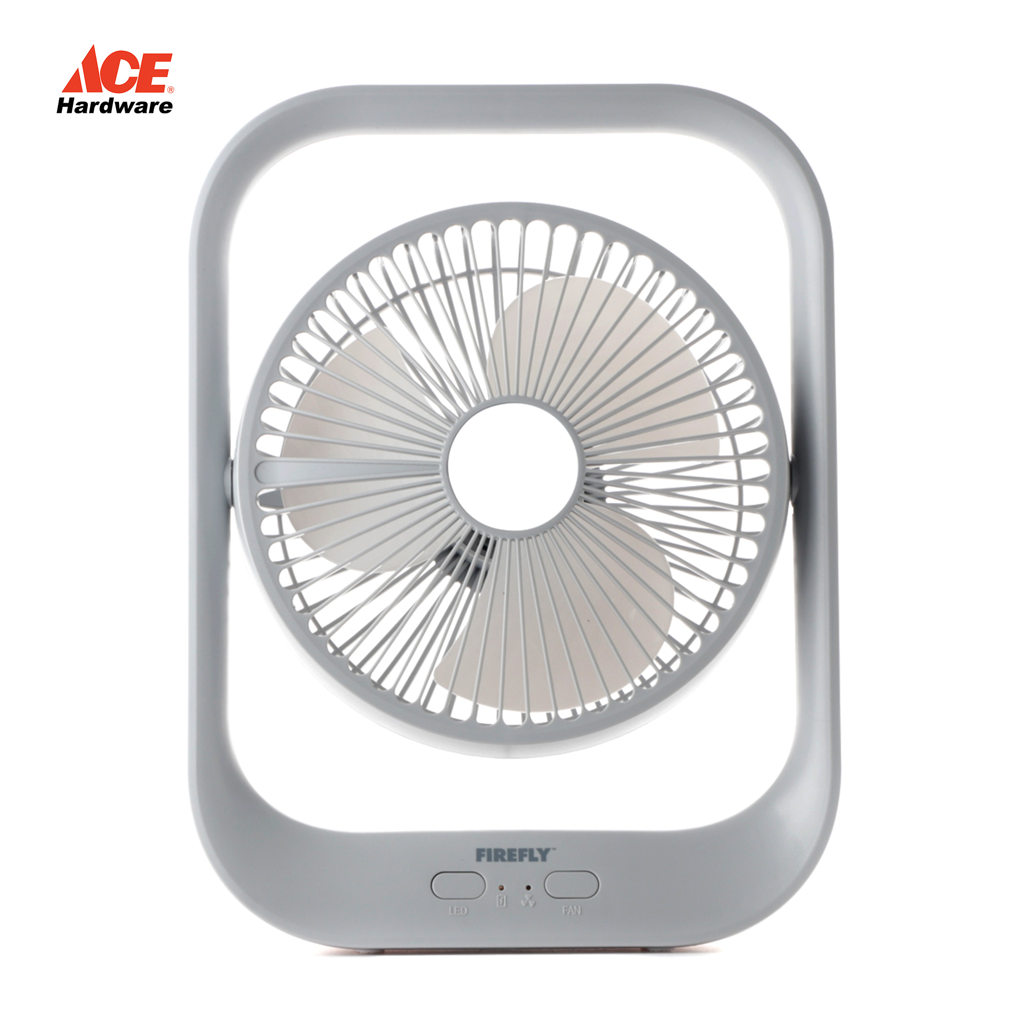 Rechargeable fan with night light