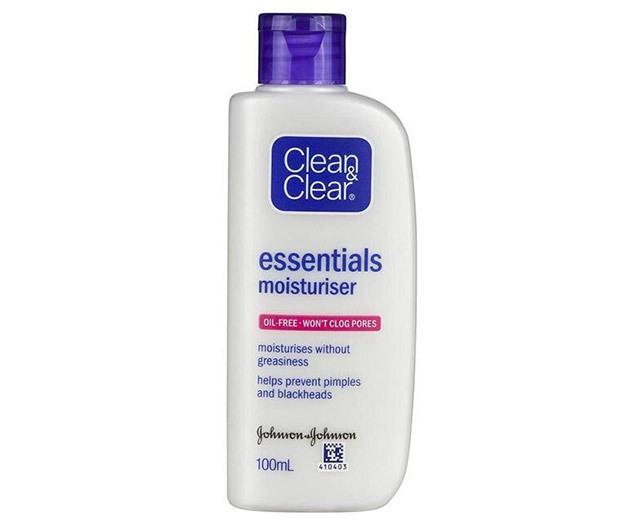 Routine for clear skin: Clean & Clear Essentials Moisturizer