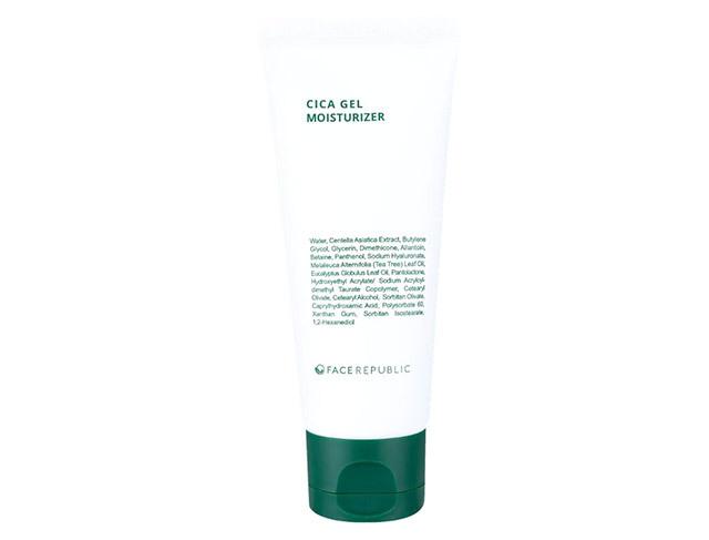 Routine for clear skin: Face Republic Cica Gel Moisturizer