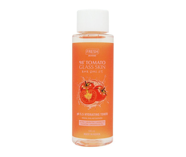 Routine for clear skin: Fresh Skinlab Tomato Glass Skin Hydrating Toner