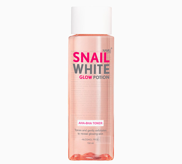 Best chemical exfoliator for oily skin: SNAILWHITE Glow Potion AHA BHA Toner