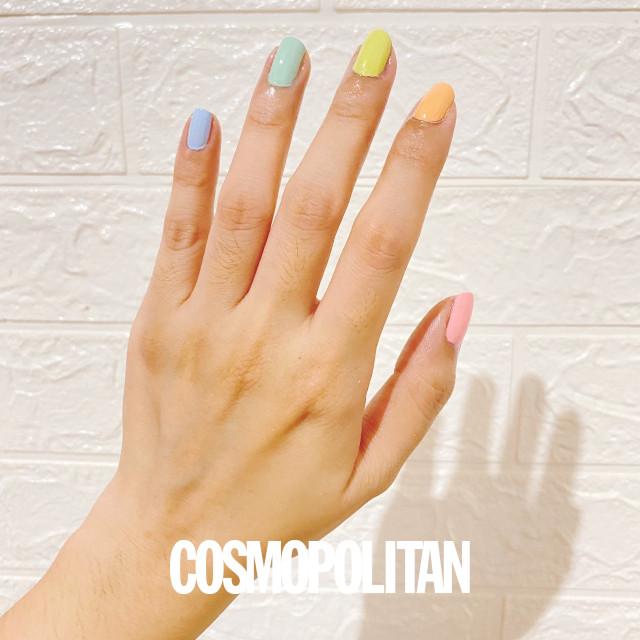 Pastel short nail manicure idea