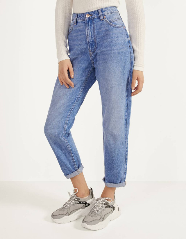 Bershka High Waist Mom Jeans