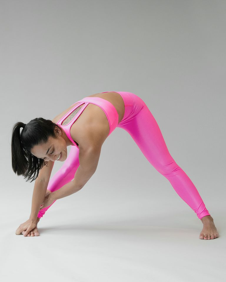 Butt stretch: Standing Straddle