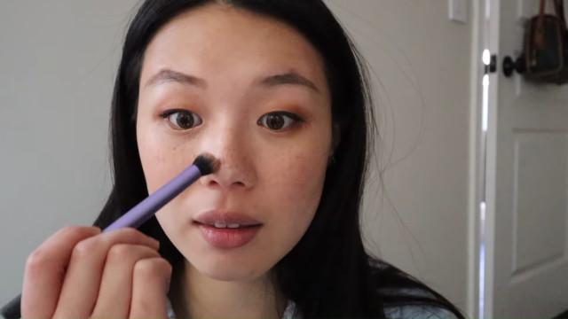 K-drama main character makeup tutorial: Contour the nose