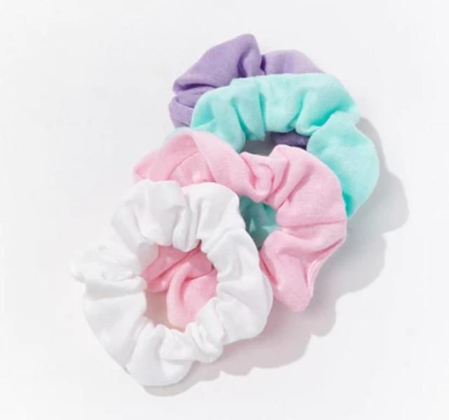 Forever 21 Women's Multi-Color Hair Scrunchie Set