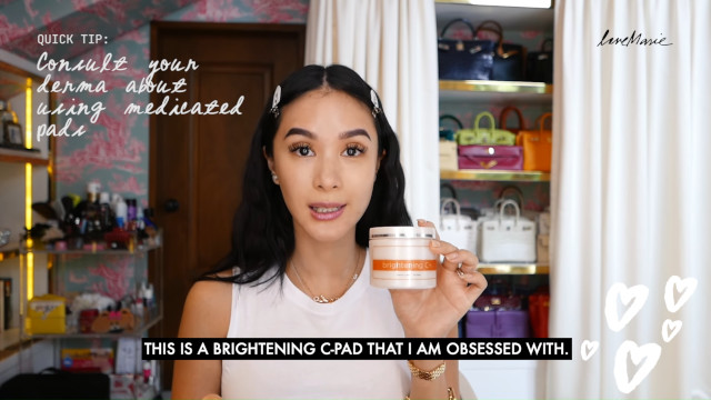 Heart Evangelista Skincare Routine: Use toning pads