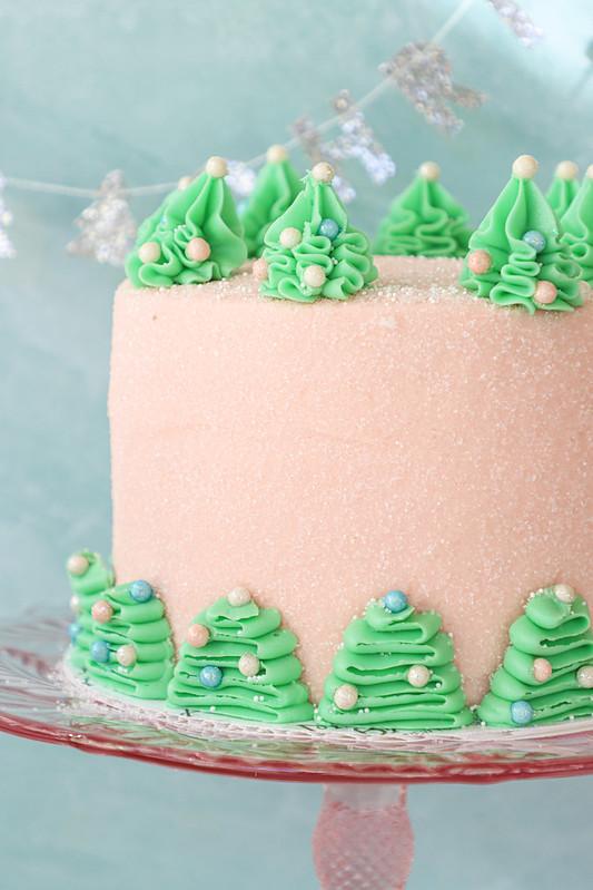 M Bakery - Bottle Brush Tree Cake