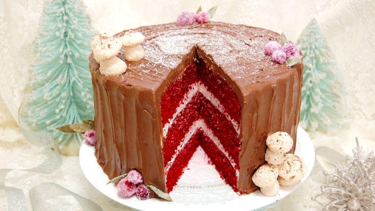 M Bakery - Chocolate Yule Log Cake