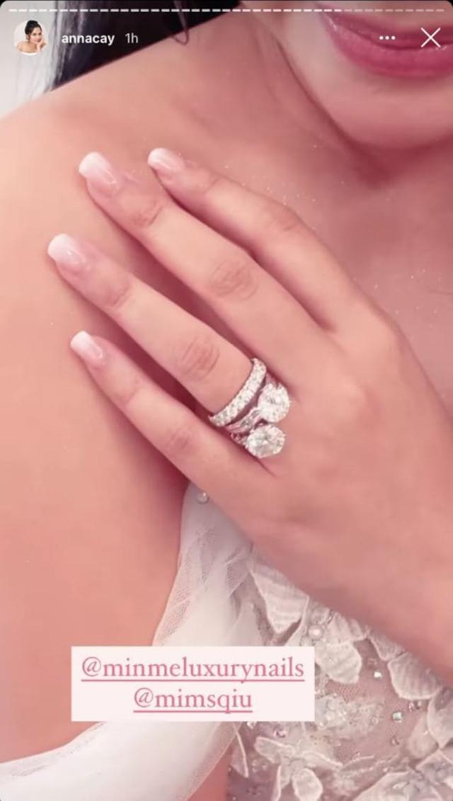 Anna Cay and Geloy Villalobos wedding: Anna's manicure