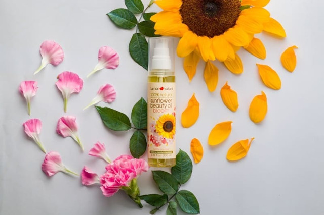 How to brighten underarms: Human Nature Sunflower Beauty Oil