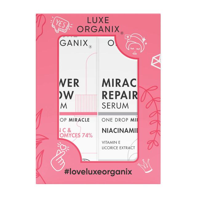 How to Glow up: Luxe Organix Miracle Repair Niacinamide Serum 20ml + Power Glow 20ml Serum