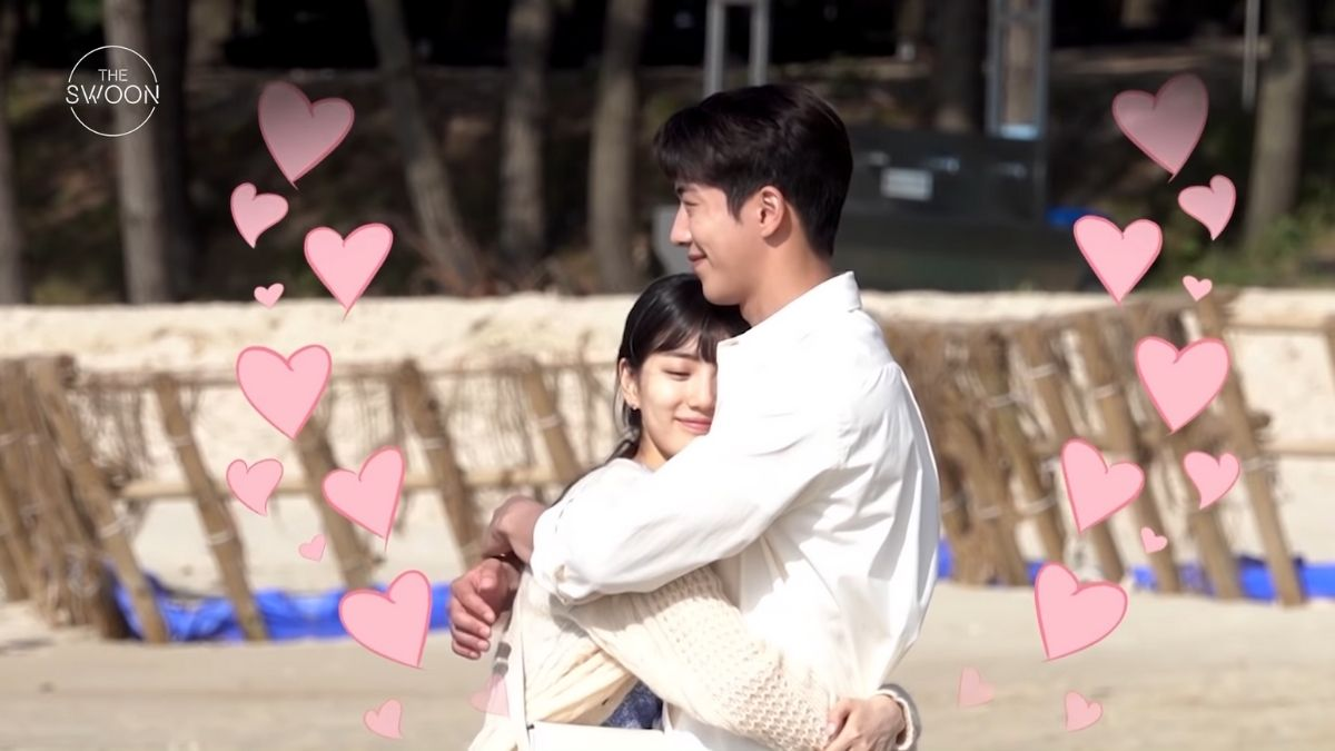 Nam Joo Hyuk and Bae Suzy's rooftop kissing scene