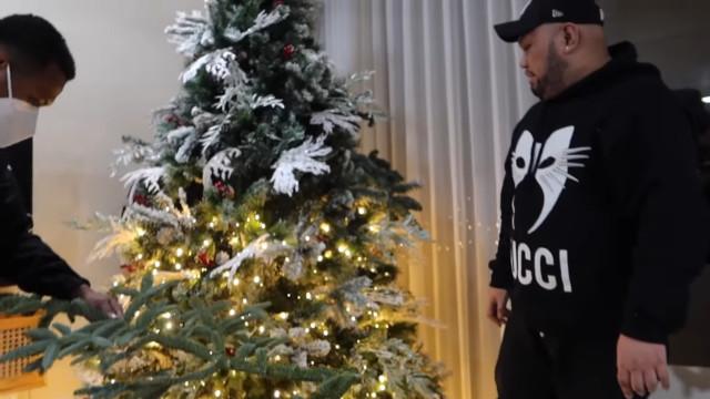 Anna Cay and Geloy Villalobos' first Christmas tree