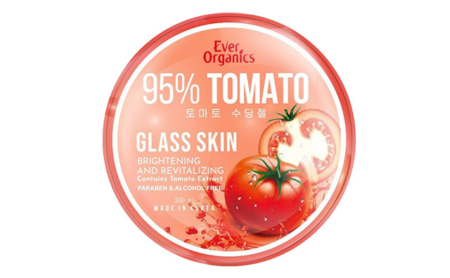 How to brighten elbows and knees: Ever Organics Tomato Glass Skin
