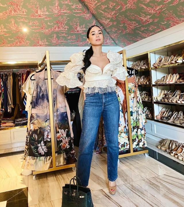 Heart Evangelista Denim Jeans Outfits