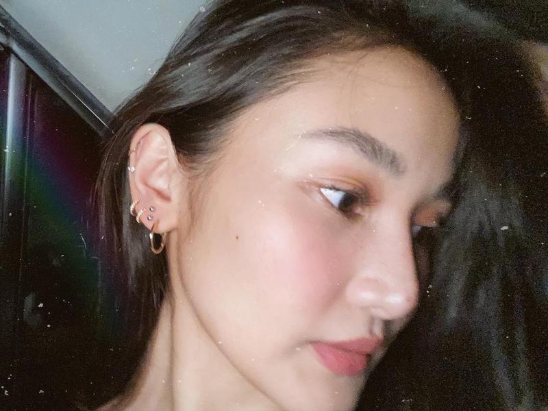 Chie Filomeno Ear Piercings