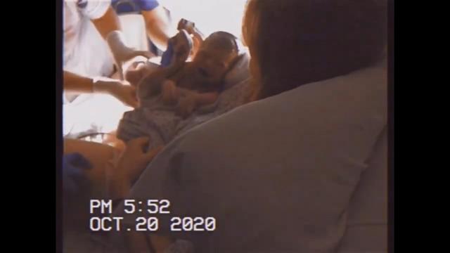 Janella Salvador with newborn son Jude Trevor