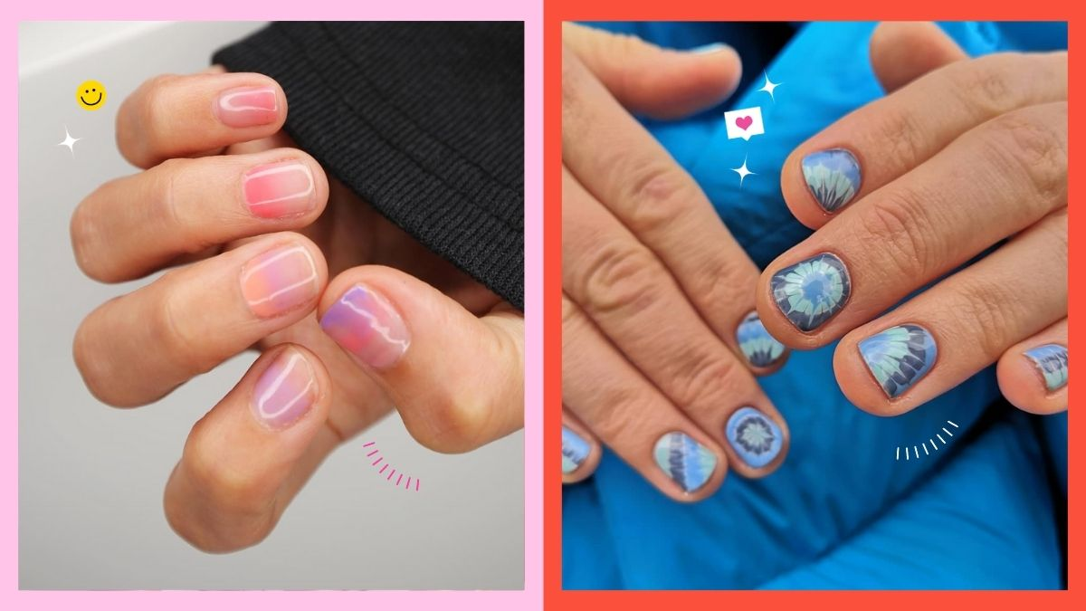 Round Shaped Short Nail Manicure Ideas