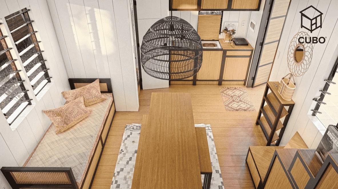 Saranggani Interior: View from the top by CUBO Modular