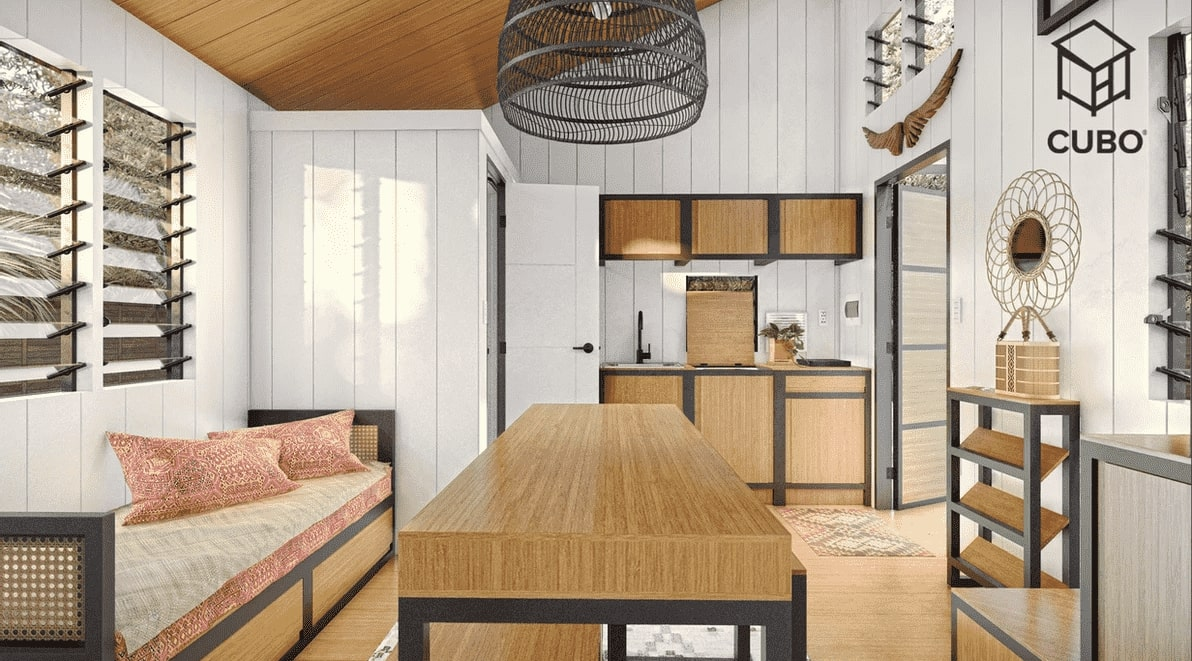 Saranggani Interior: Kitchen and Living space by CUBO Modular