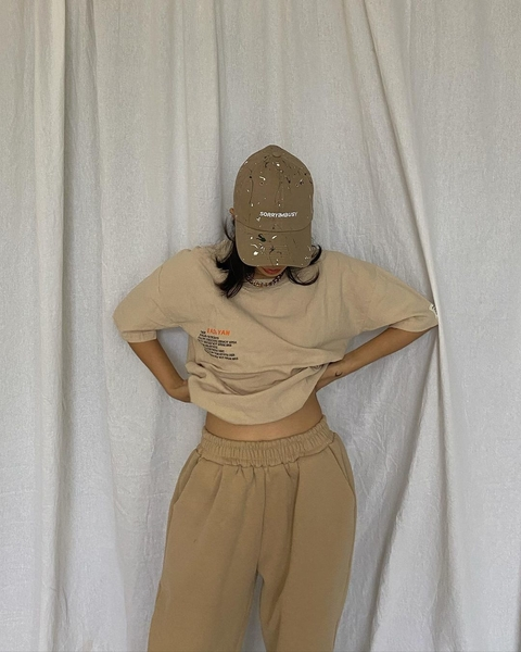 Rhea Bue - OOTD with face covered by cap