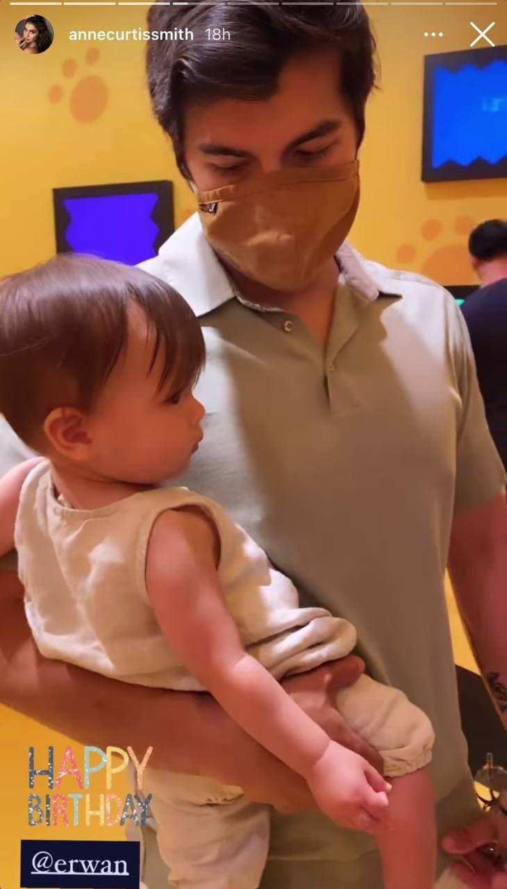 Erwan Heussaff with daughter Dahlia