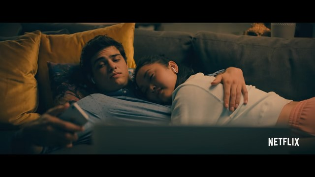 Super sweet moments between Lara Jean and Peter: Couch scene