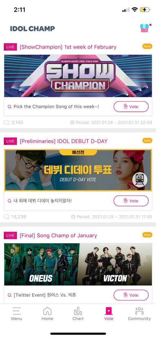 IdolChamp app