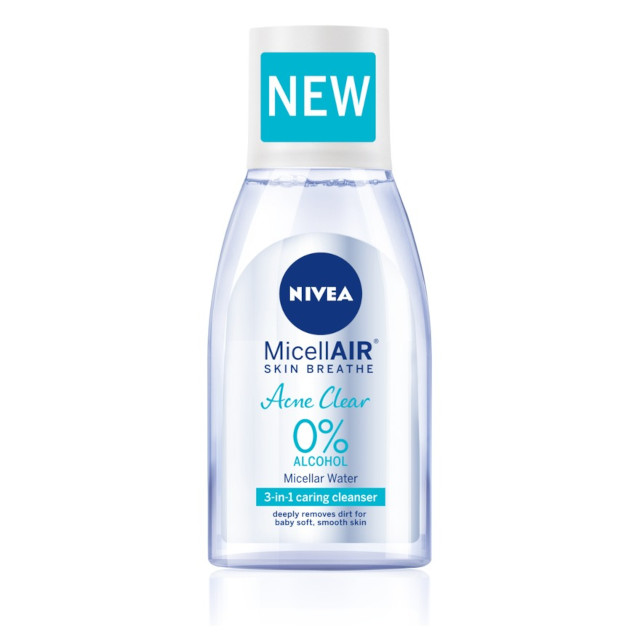 Makeup for acne: NIVEA AcneClear MicellAIR Water