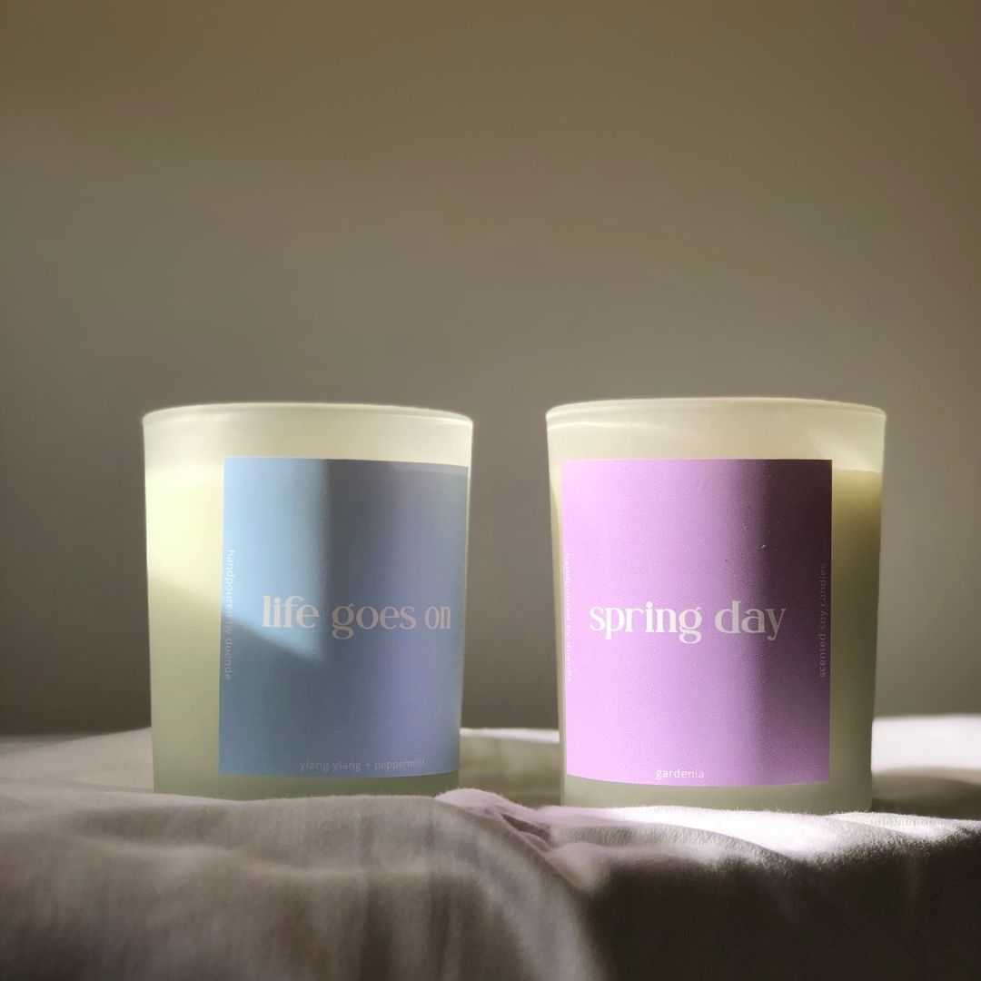 Scented candles inspired by BTS' songs