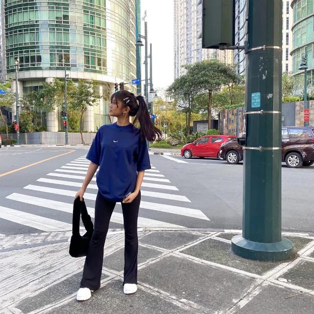 Ashley Garcia Oversized T-shirt Outfit