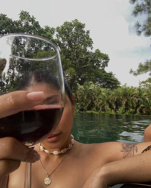 nadine lustre aesthetic instagram feed: posing with wine