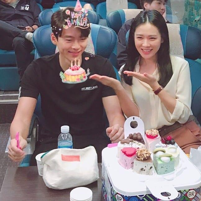 Hyun Bin celebrates birthday with Son Ye Jin