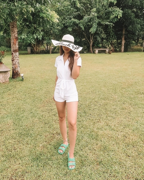 Julia Barretto White Outfits: romper