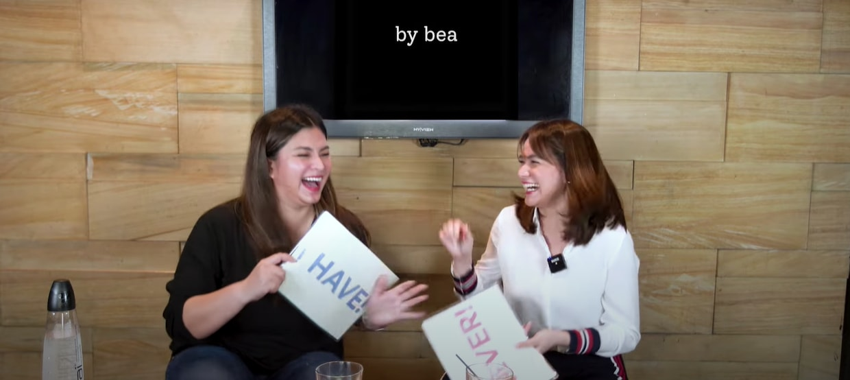 Angel Locsin and Bea Alonzo play Never Have I Ever