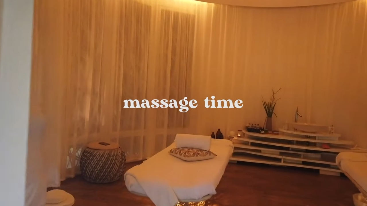 Rei Germar Siargao vlog: massage area at Nay Palad
