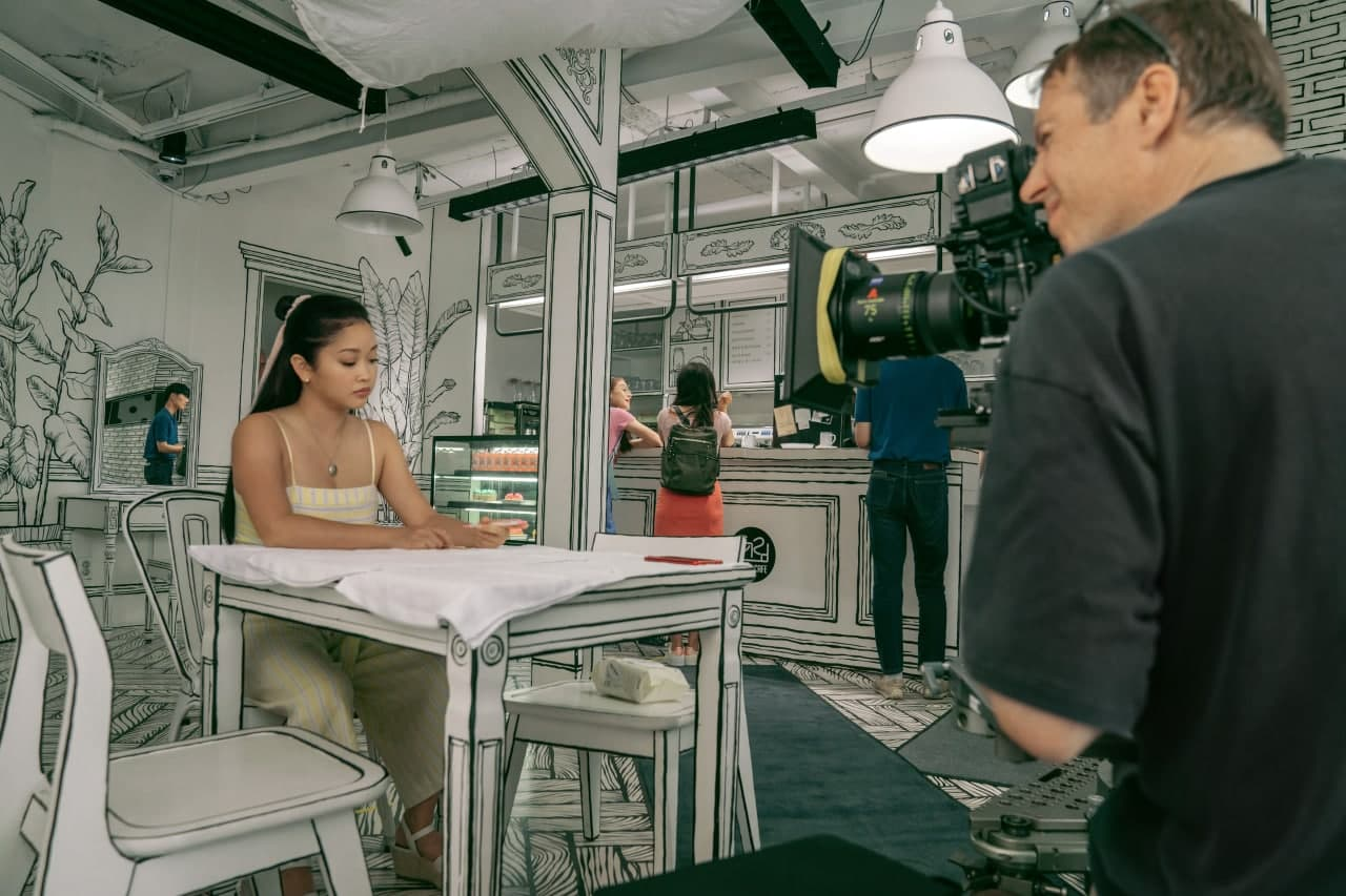 Behind-the-scenes of Lana Condor at Café Yeonnam-dong