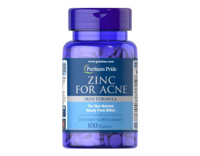 Vitamins for the skin, zinc: Puritan's Pride Zinc for acne