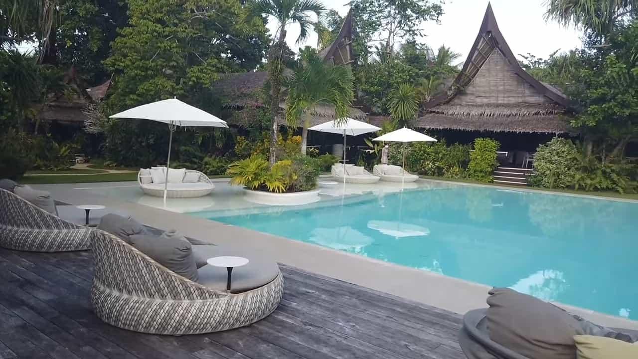 Rei Germar Siargao vlog: pool area at Nay Palad