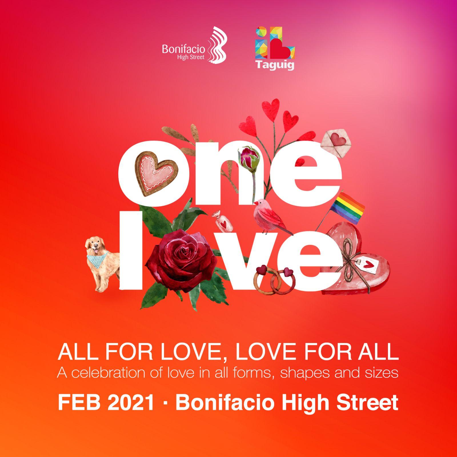 Valentine's Day celebrations in Bonifacio High Street