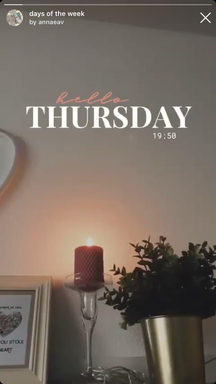 Instagram filter: days of the week by annaeav