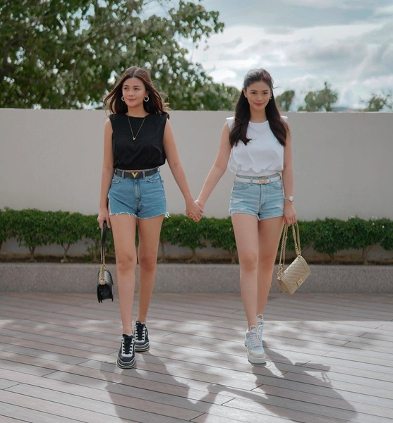 Vern and Verniece Enciso's black and white OOTDs