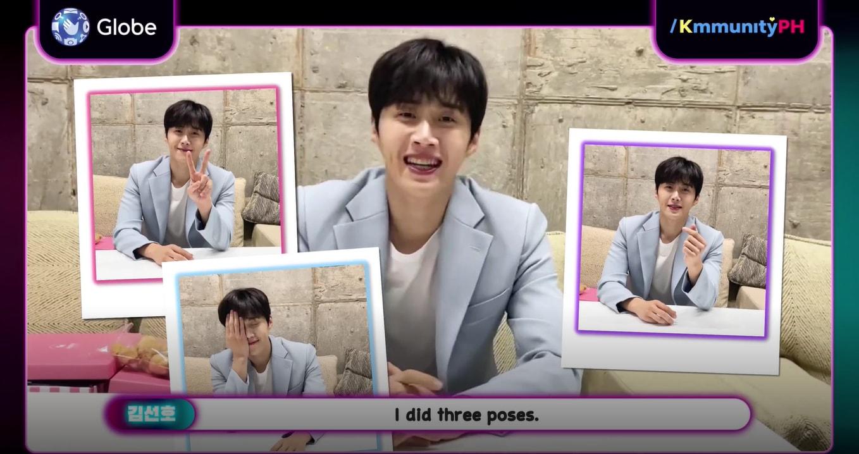 Kim Seon Ho posing after eating chicharon