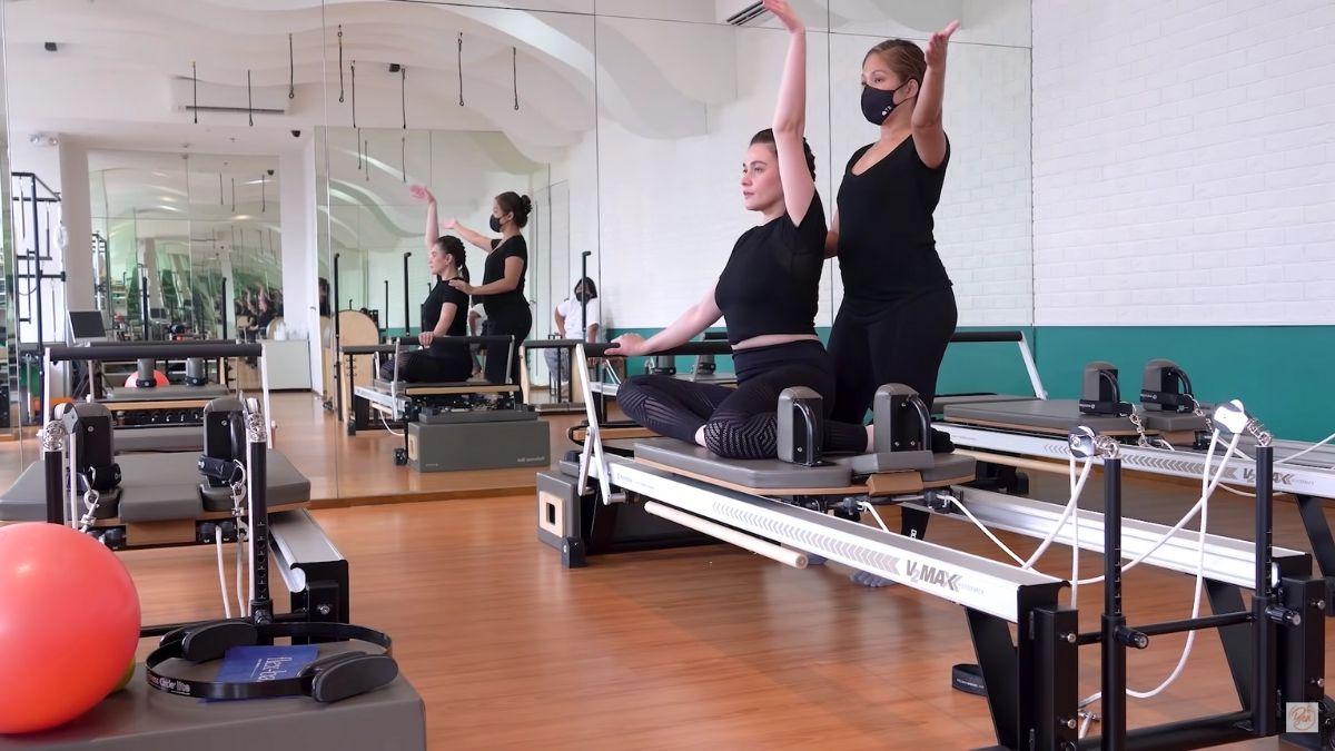Bea Alonzo attends pilates class