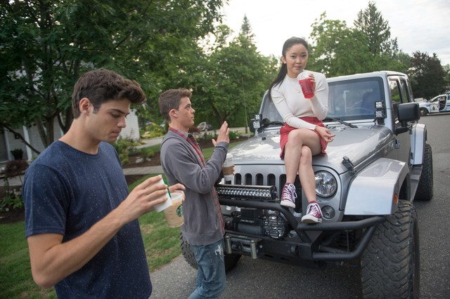 lara jean, peter k, and josh